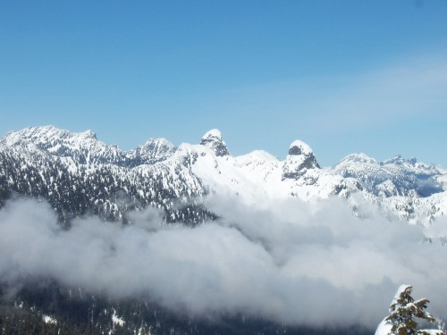 The Lions as seen from the top of Cypress Mountain