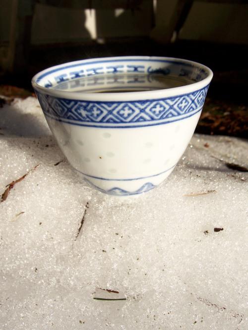 mint tea in snow, Jamm@brightheartsinging.wordpress.com